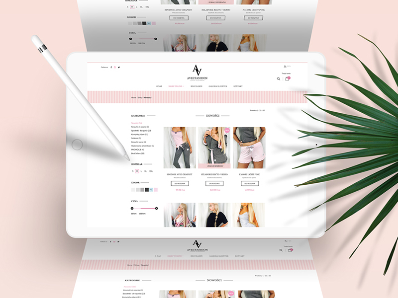 avecfashion psd do wordpress i woocommerce